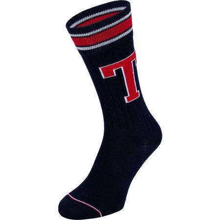 Pánske ponožky - Tommy Hilfiger MEN TH PATCH SOCK 2P - 4