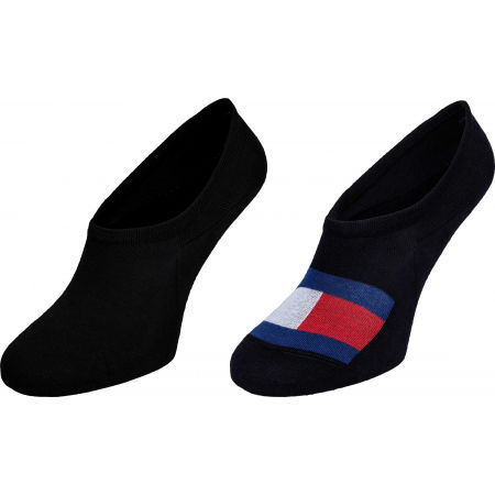 Pánske ponožky - Tommy Hilfiger MEN FOOTIE 2P FLAG - 1