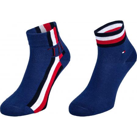 Tommy Hilfiger MEN QUARTER 2P ICONIC STRIPE - Pánské ponožky
