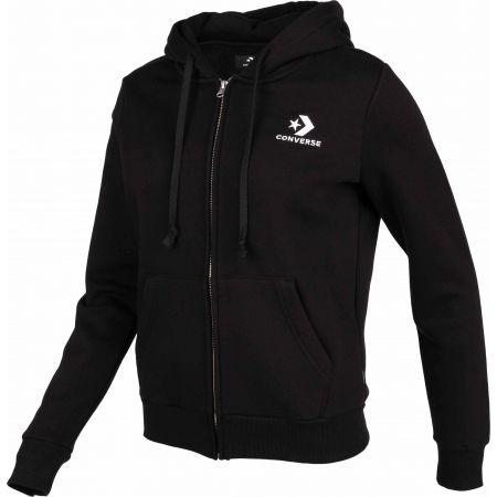 Women's sweatshirt - Converse STAR CHEVRON EMB FZ HOODIE - 2