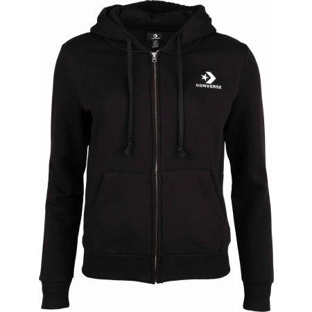 Women's sweatshirt - Converse STAR CHEVRON EMB FZ HOODIE - 1