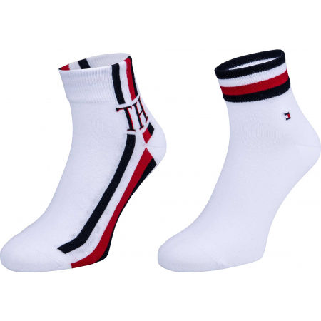 Tommy Hilfiger MEN QUARTER 2P ICONIC STRIPE - Skarpety męskie