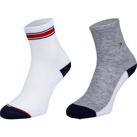 Dámske ponožky - Tommy Hilfiger WOMEN SHORT SOCK 2P TRANSLUCENT - 1