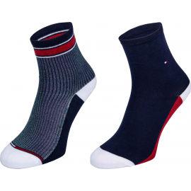 Tommy Hilfiger WOMEN SHORT SOCK 2P TRANSLUCENT - Dámske ponožky