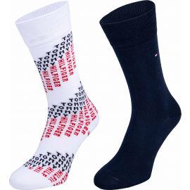 Tommy Hilfiger MEN SOCK 2P TOMMY CHEVRON - Pánske ponožky