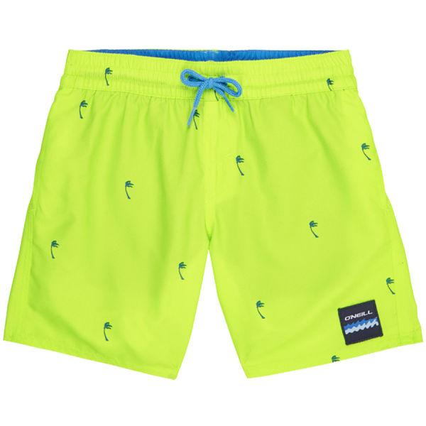 O'Neill PB MINI PALMS SHORTS žltá 152 - Chlapčenské kúpacie šortky
