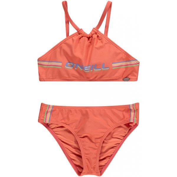 O'Neill PG CALI HOLIDAY BIKINI oranžová 104 - Dievčenské dvojdielne plavky
