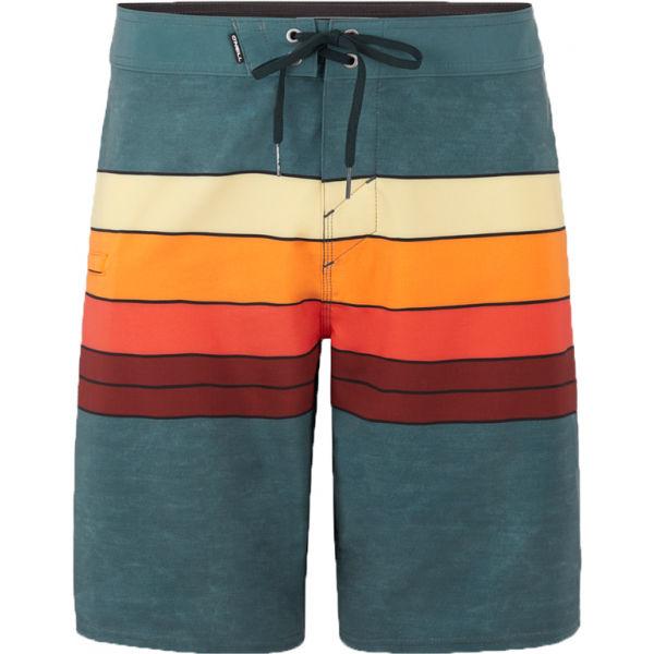 O'Neill PM HYPERFREAK HEIST LINE tmavo zelená 31 - Pánske šortky do vody