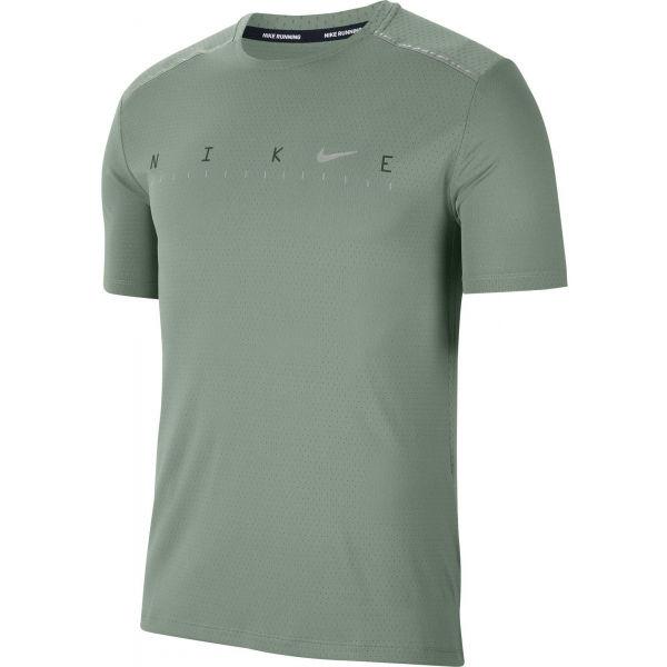 Nike DRY MILER SS TECH PO FF M zelená 2XL - Pánské tréninkové tričko