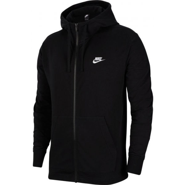 Nike NSW CLUB HOODIE FZ JSY M černá M - Pánská mikina