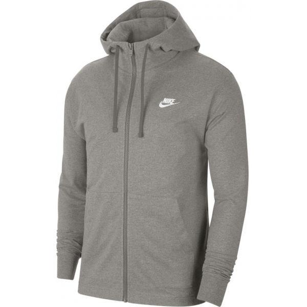 Nike NSW CLUB HOODIE FZ JSY M šedá S - Pánská mikina