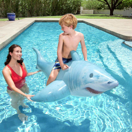 Nafukovací žralok - Bestway REALISTIC SHARK RIDE-ON - 6