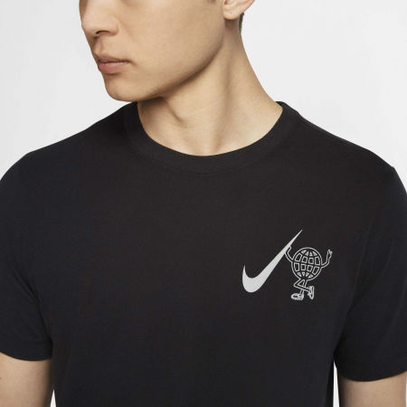 Men's running T-shirt - Nike DRY TEE WILD RUN GLOBEY M - 6