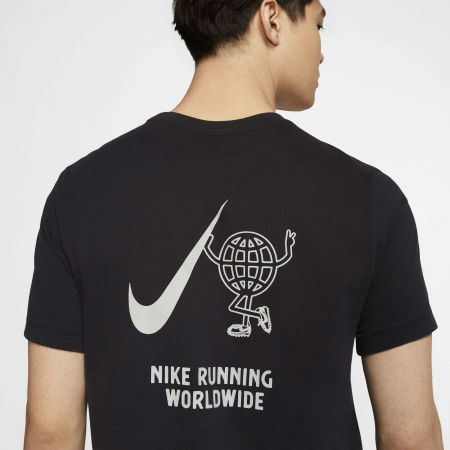 Men's running T-shirt - Nike DRY TEE WILD RUN GLOBEY M - 7