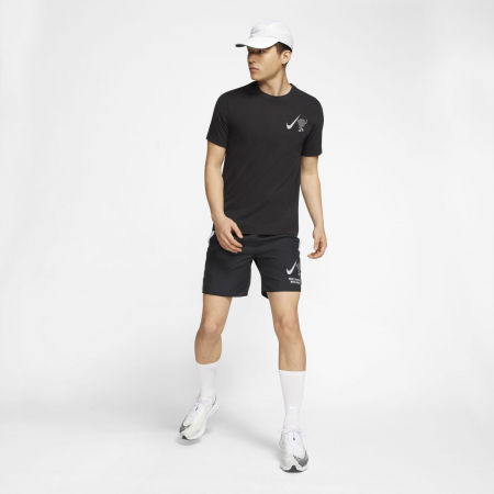 Men's running T-shirt - Nike DRY TEE WILD RUN GLOBEY M - 5