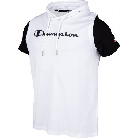 Men's T-shirt with a hood - Champion HOODED SLEEVELESS T-SHIRT - 2