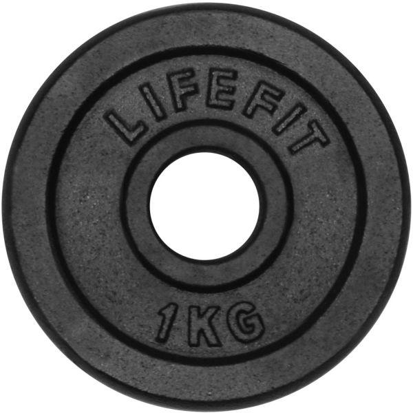 Lifefit KOTOUC 1KG 30MM  1 kg - Nakládací kotouč