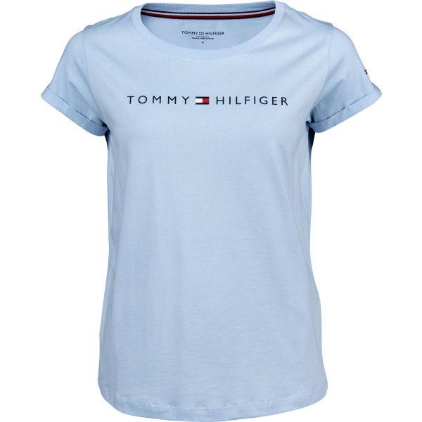 Tommy Hilfiger RN TEE SS LOGO modrá L - Dámské tričko
