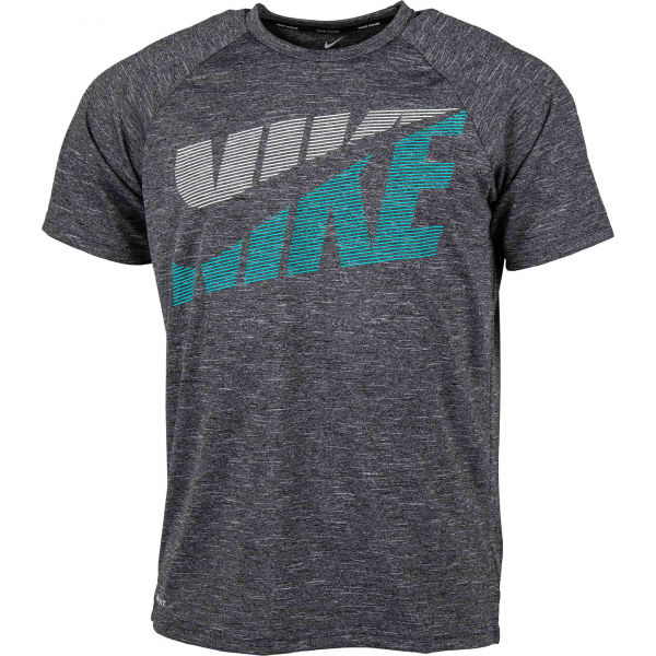 Nike HEATHER TILT czarny S - Koszulka kąpielowa męska