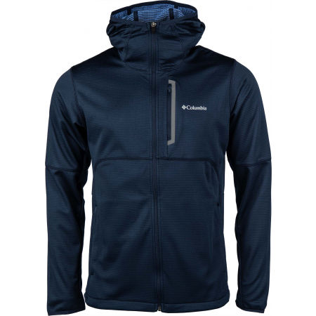 Мъжки суитшърт - Columbia TECH TRAIL FULL ZIP HOODIE - 1