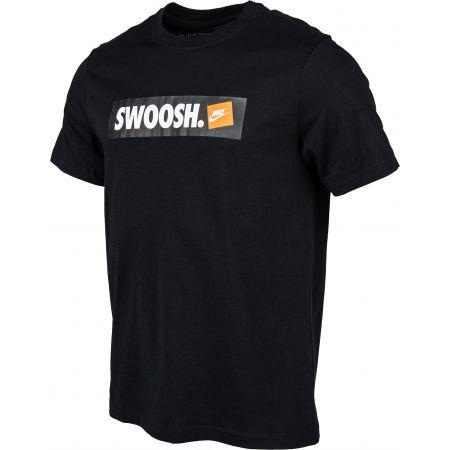 Мъжка тениска - Nike TEE SWOOSH BMPR STKR - 2