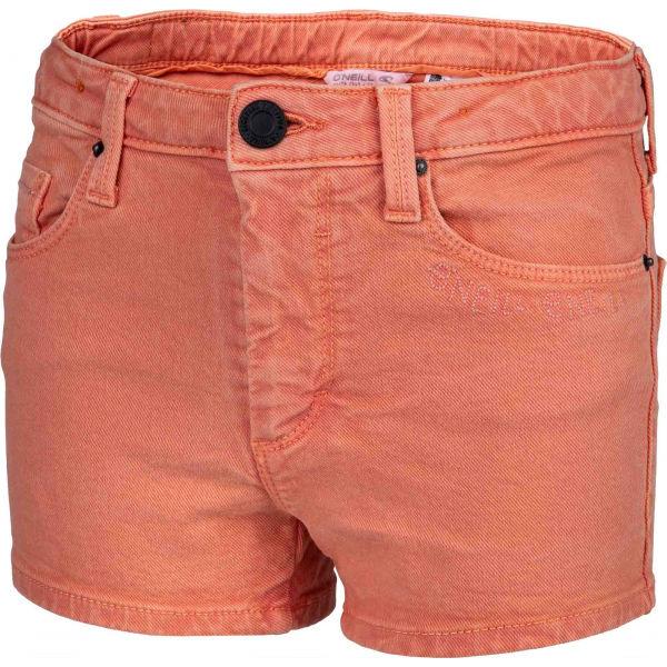 O'Neill LG CALI PALM SHORTS oranžová 140 - Dívčí šortky
