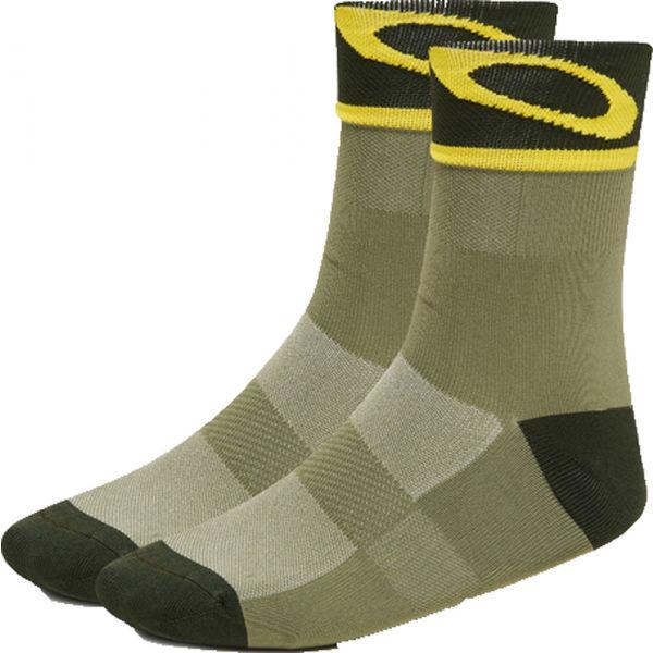 Oakley SOCKS 3.0 zelená M - Unisex ponožky