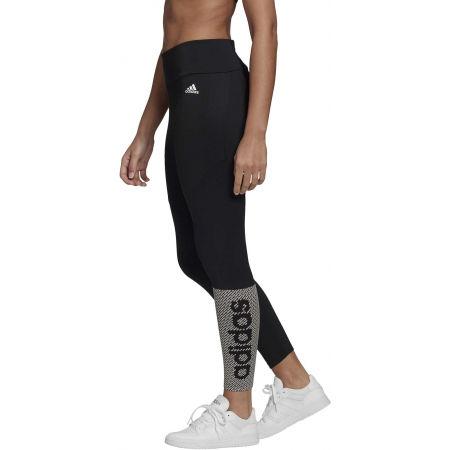 Női legging - adidas W D2M BRND TIG - 3