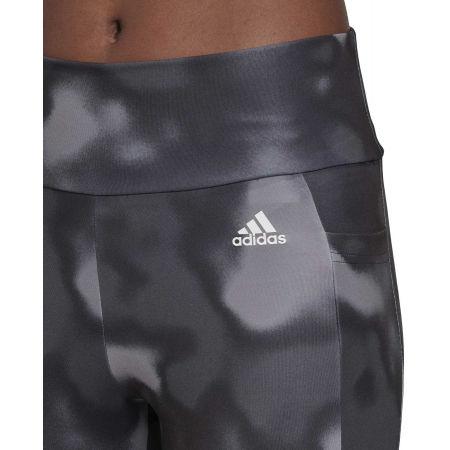 Women's sports leggings - adidas D2M AOP 78 TI - 8