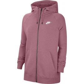 Nike NSW ESSNTL HOODY FZ FLC PLUS W - Női plus size pulóver