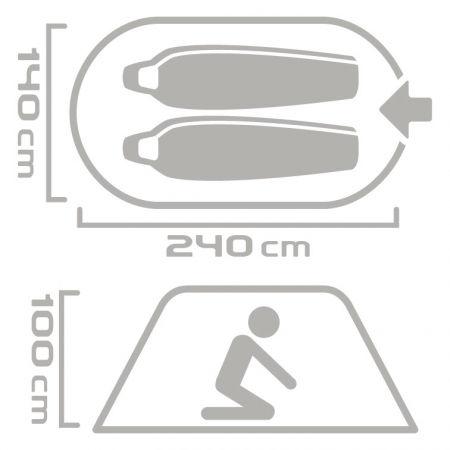 Саморазгъваща се палатка - Crossroad MESA 2 - 7