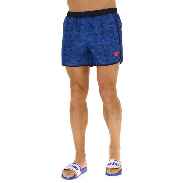 Lotto SHORT BEACH PRT 1 PL niebieski XXL - Spodenki kąpielowe męskie