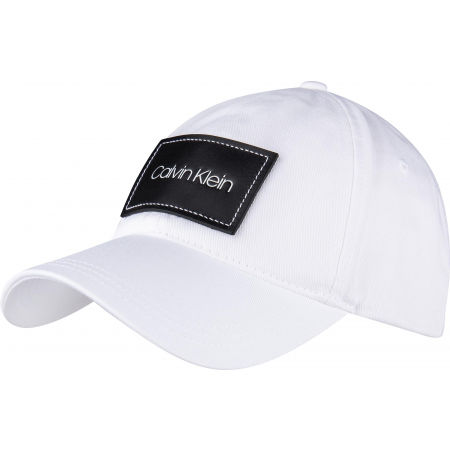 Calvin Klein LEATHER PATCH BB CAP - Pánská kšiltovka