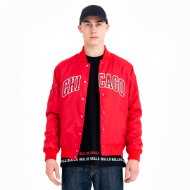 New Era CHICAGO BULLS TEAM WORDMARK VARSITY JACKET - Pánska bunda