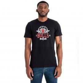 New Era NBA LEAGUE NET LOGO TEE CHICAGO BULLS - Pánské triko