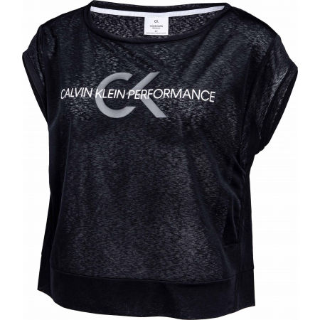Tricou de damă - Calvin Klein CROPPED SHORT SLEEVE T-SHIRT - 2