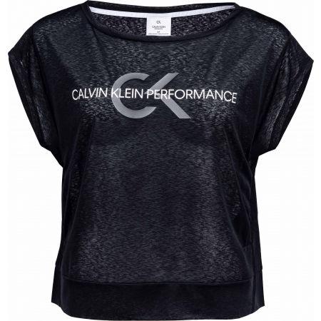 Calvin Klein CROPPED SHORT SLEEVE T-SHIRT - Дамска тениска