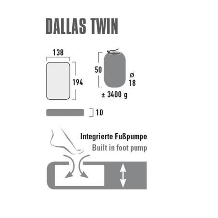 Inflatable sleeping mat - High Peak DALLAS TWIN - 4