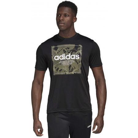 Мъжка тениска - adidas CAMO BX T - 4