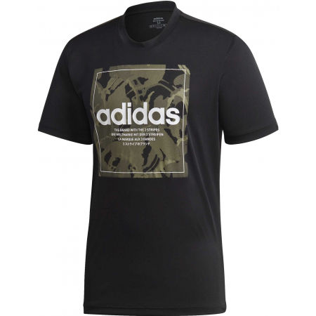 Мъжка тениска - adidas CAMO BX T - 1