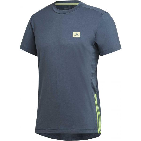 adidas MENS D2M MOTION PACK TEE tmavě šedá M - Pánské tričko
