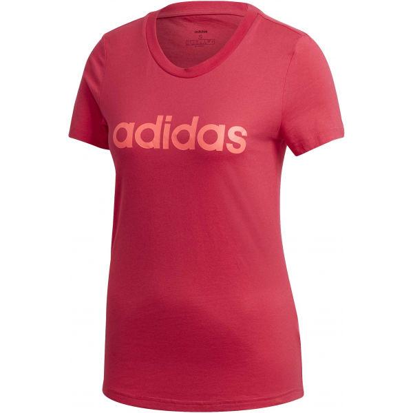 adidas E LIN SLIM TEE červená S - Dámske tričko