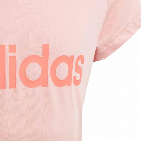 Girls' T-shirt - adidas YG LINEAR TEE - 4
