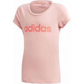 adidas YG LINEAR TEE - Dievčenské tričko
