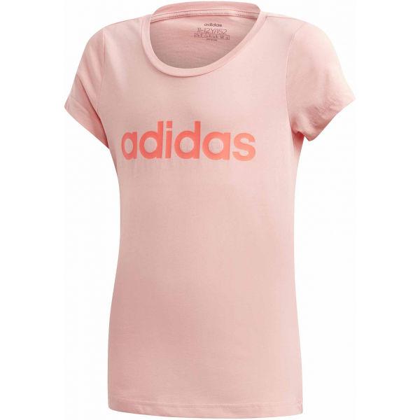 adidas YG LINEAR TEE  152 - Dievčenské tričko