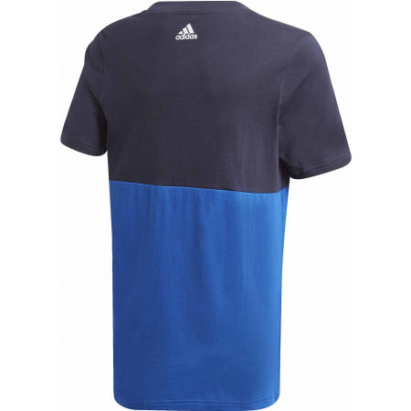 Children's T-shirt - adidas YB LINEAR COLORBLOCK TEE - 2