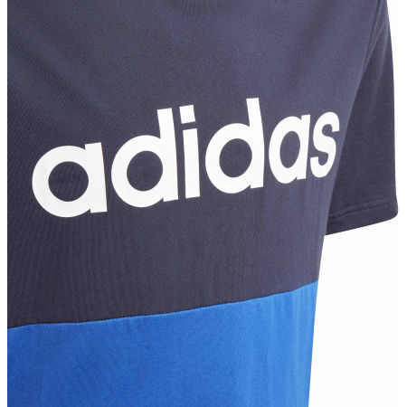 Children's T-shirt - adidas YB LINEAR COLORBLOCK TEE - 3