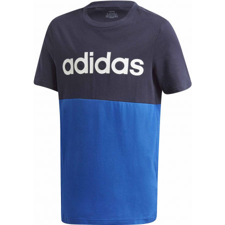 adidas YB LINEAR COLORBLOCK TEE - Юношеска  тениска