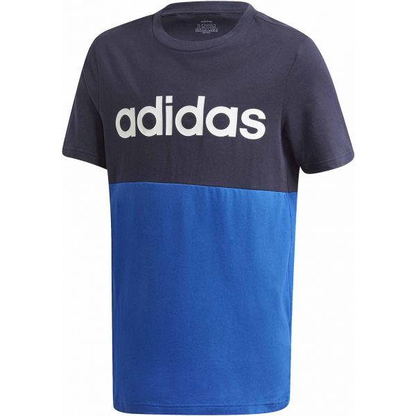 adidas YB LINEAR COLORBLOCK TEE černá 152 - Juniorské triko