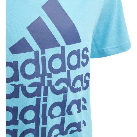 Tricou băieți - adidas YB BADGE OF SPORTS TEE - 5